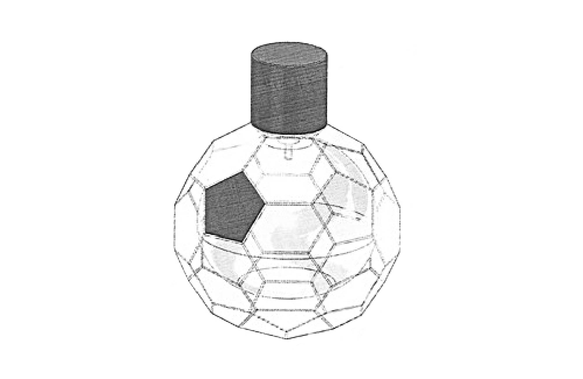 Sketch of a perfume bottle