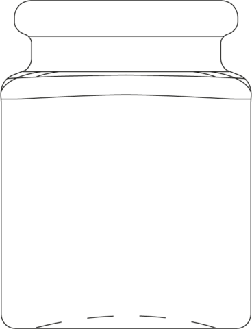 Technical drawing of spice jar 40 ml - article number 74543