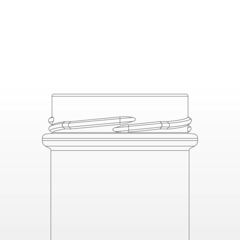 Sketch of twist off deep neck finish