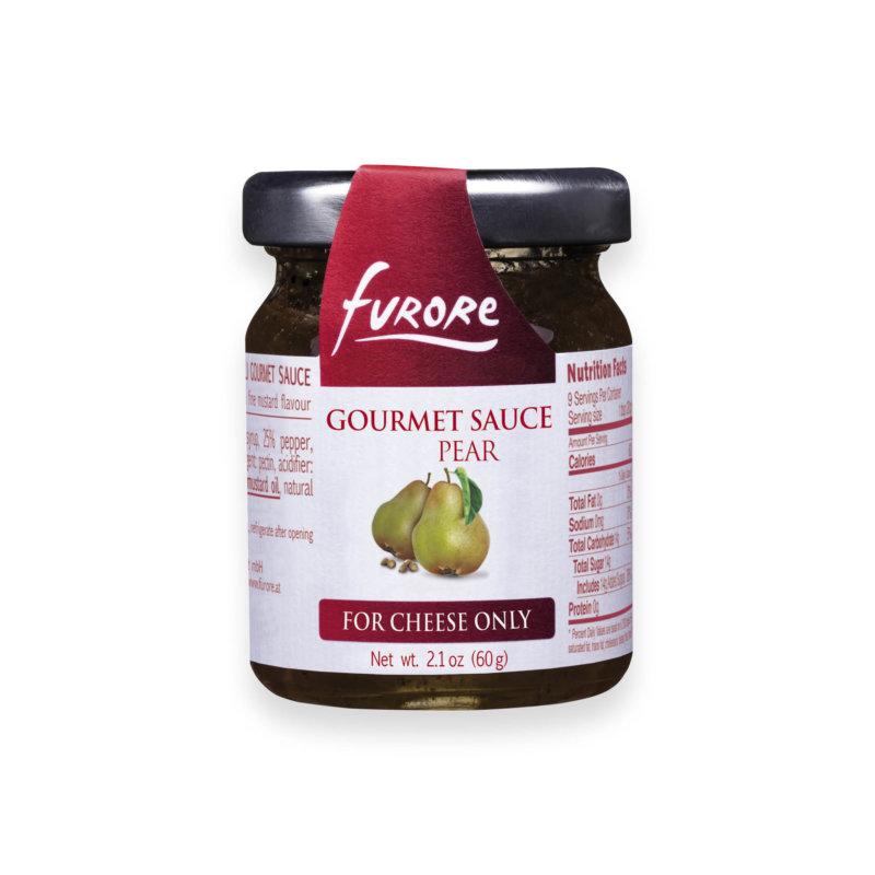 Gourmet sauce furore in pear flavor