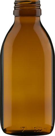 Produktbild der Sirupflasche braun 150 ml - Artikelnummer 72434