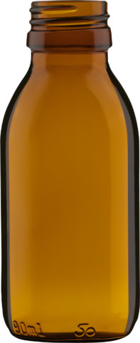 Product picture of syrup bottle amber 90 ml - article number 72434