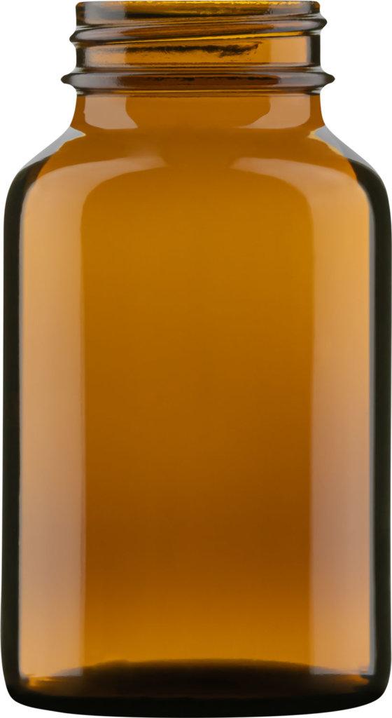 Produktbild des Weithalsglas braun 120 ml - Artikelnummer 74024