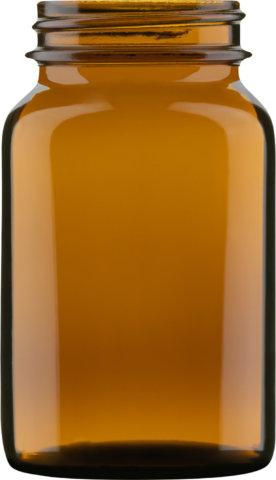 Produktbild der Weithalsglasflasche braun 150 ml - Artikelnummer 74024
