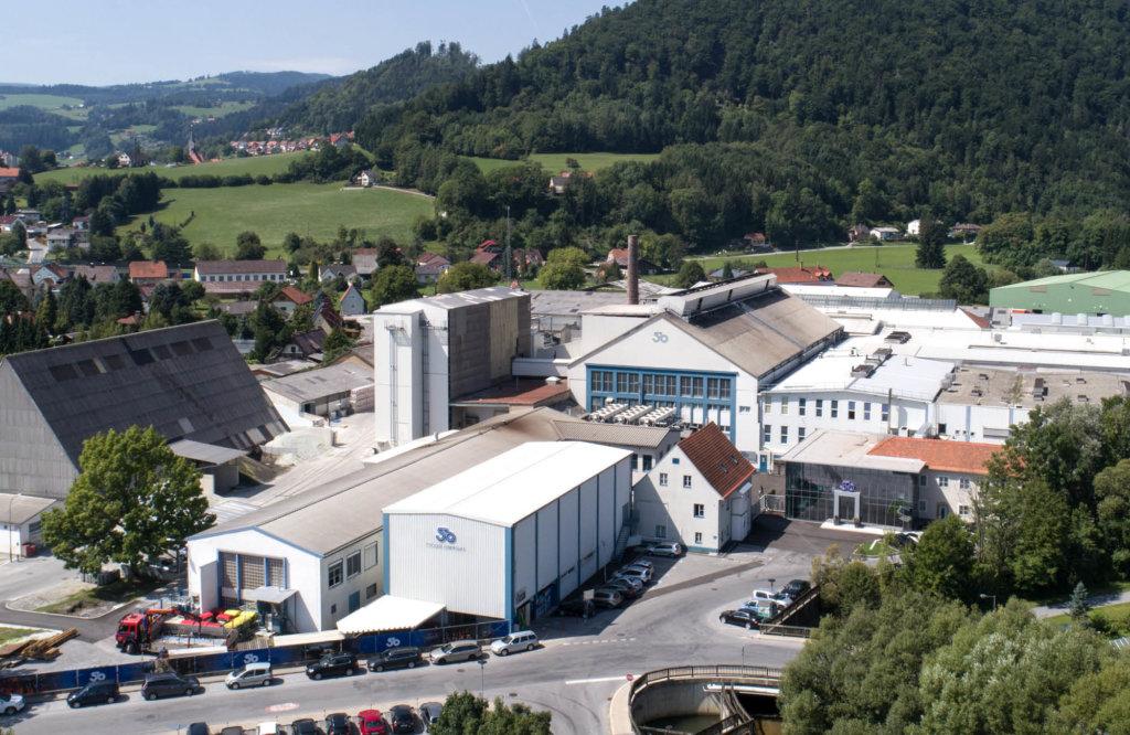 Panoramabild der Produktion in Köflach