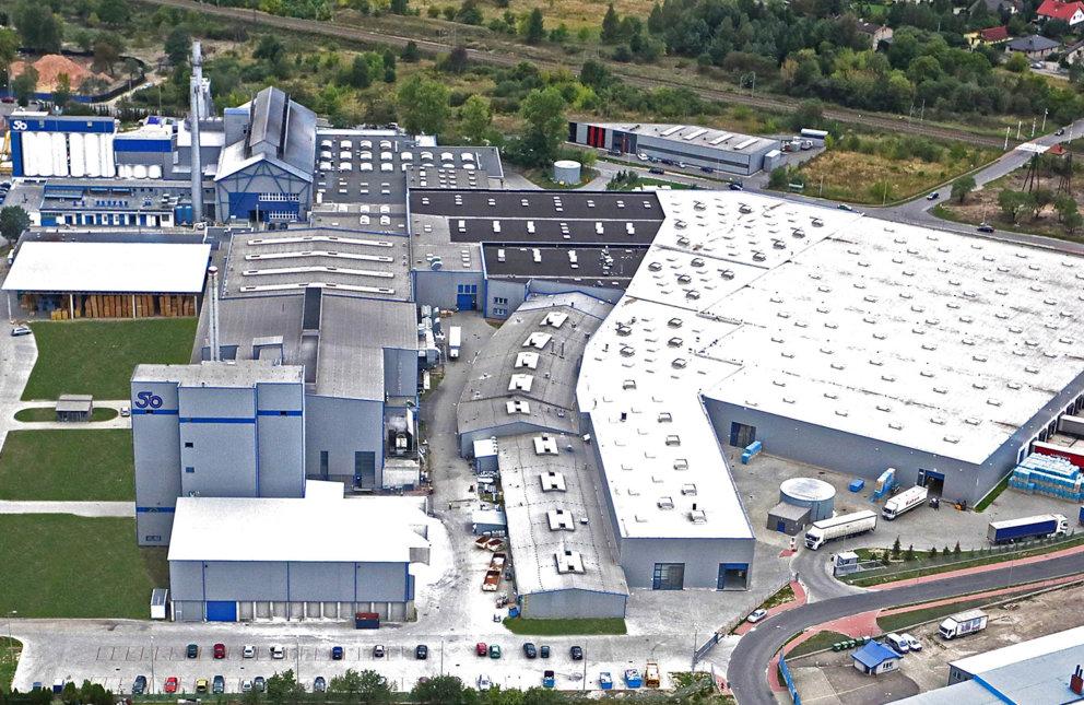 Luftaufnahme vom Produktionsstandort Stoelzle Czestochowa Polen