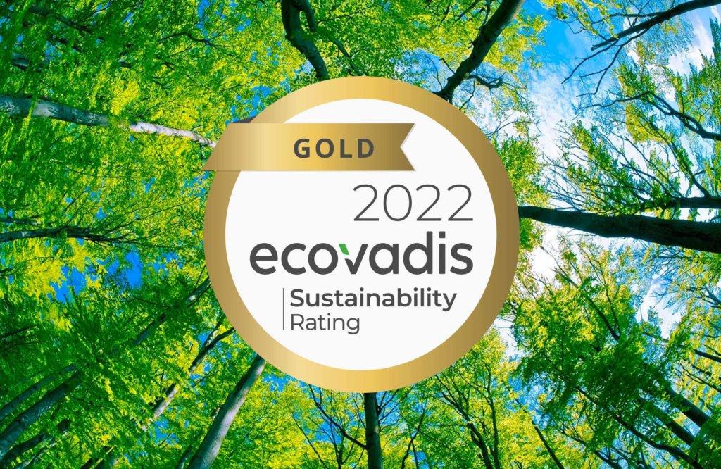 Goldlabel von Ecovadis für Nachhaltigkeit