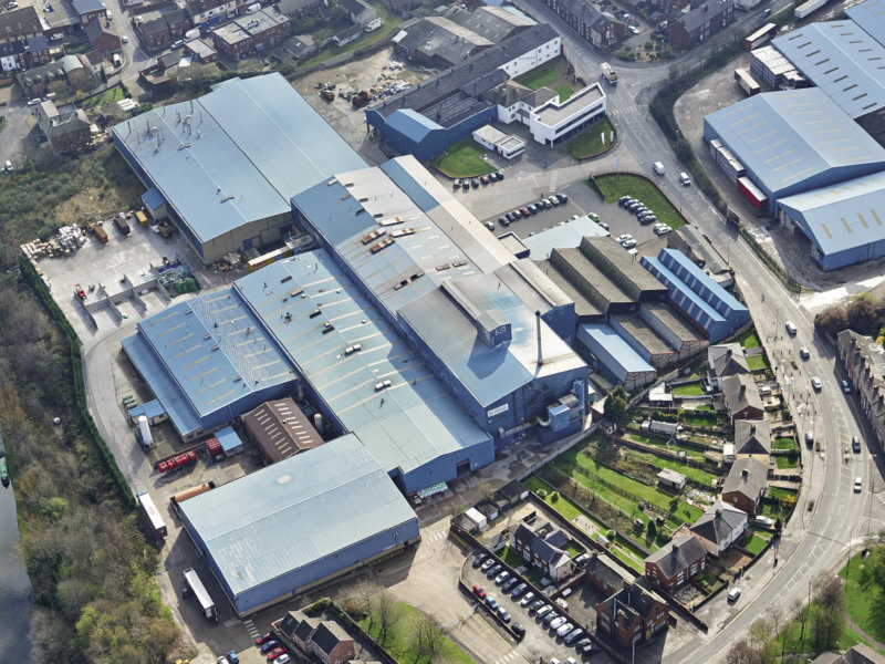 Bird view of production plant Stoelzle Flaconnage Great Britain