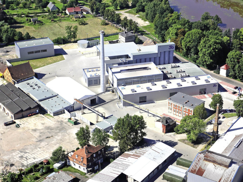 Bird view of production plant Stoelzle Wymiarki Poland