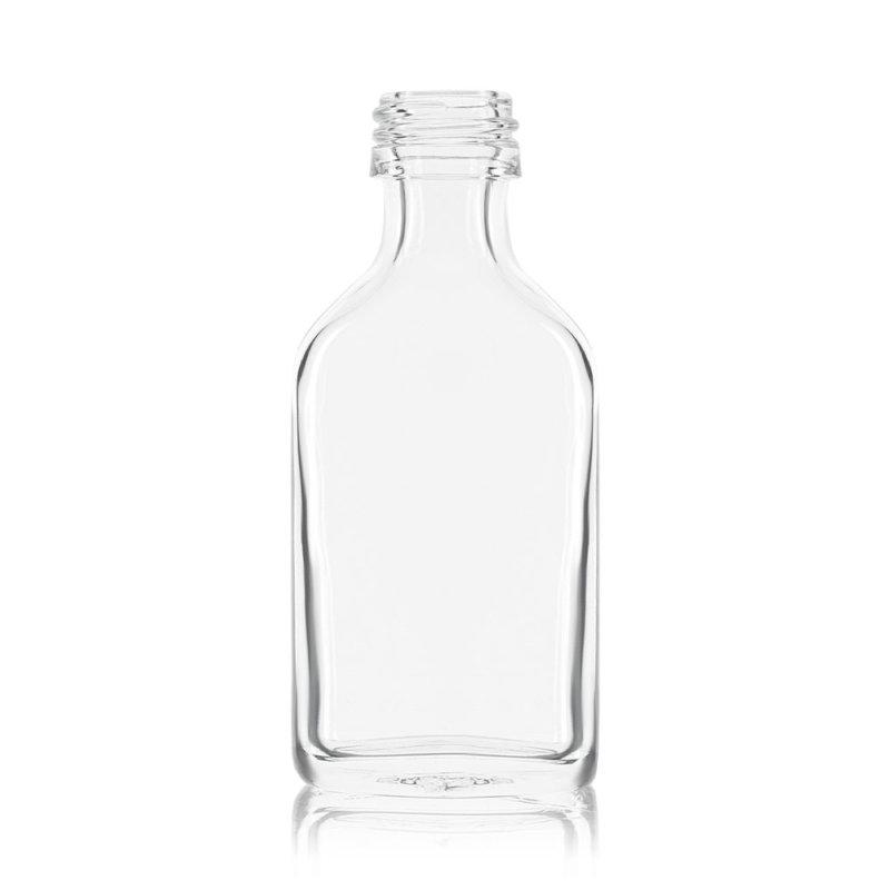 Mini flint liquor bottle in rectangular shape